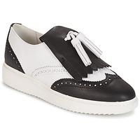 Chaussures Femme Mocassins Geox D THYMAR C - NAPPA Blanc / Noir