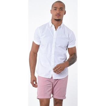 Vêtements Homme Chemises manches courtes Kaporal Chemise Homme Fyp Blanche Blanc