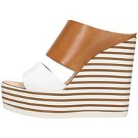 Chaussures Femme Sandales et Nu-pieds Zoe Mic100/02 Sandale Femme Cuir / blanc Cuir / blanc
