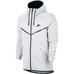 Vêtements Homme Sweats Nike Sweat  Sportswear Tech Fleece Windrunner - 805144-100 Blanc
