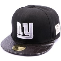 Accessoires textile Casquettes Jbb Couture Snapback  noir avec logo NY Noir