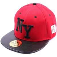 Accessoires textile Casquettes Jbb Couture Snapback NYJBB Couture Rouge Rouge