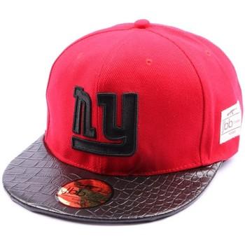 Accessoires textile Casquettes Jbb Couture Snapback  Rouge avec logo NY noir Rouge