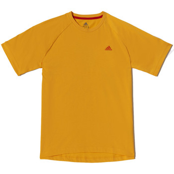 Vêtements Homme T-shirts manches courtes adidas Performance Tee-shirt Crew AESS Jaune