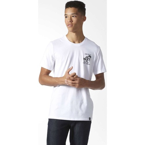 Vêtements Homme T-shirts manches courtes adidas Originals BJ8687 T-shirt Man Blanc Blanc