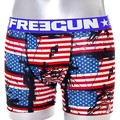 Freegun Boxer Homme Coton FLAG USA Rouge