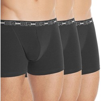 Vêtements Homme Boxers / Caleçons DIM Lot 3 Boxers Homme Coton STRETCH Noir Noir