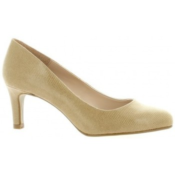 Chaussures Femme Escarpins So Send Escarpins laminé Taupe