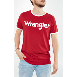 Vêtements Femme T-shirts manches courtes Wrangler Tee Shirt  Kabel Tee 70 Ans  Rouge Homme Rouge