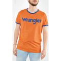 Wrangler Tee Shirt  Kabel Tee 70 Ans  Orange Homme