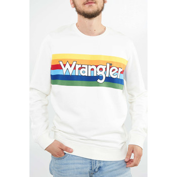 Vêtements Femme Sweats Wrangler Sweat  Rainbow Sweat 70 Ans  Ecru Homme Ecru
