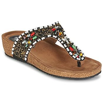 Chaussures Femme Sandales et Nu-pieds Metamorf'Ose ZABUSTE Noir / Multicolore