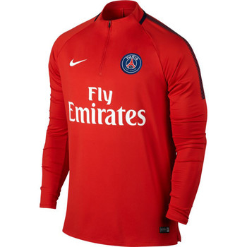 Vêtements Homme T-shirts manches longues Nike Paris Saint Germain Drill Top Red / White