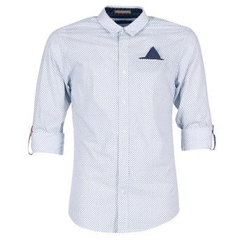 Vêtements Homme Chemises manches longues Scotch & Soda DARLU Blanc / Bleu