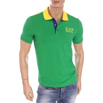 Vêtements Homme Polos manches courtes Armani Ea7 Short sleeves polo Green 273967 6P254  Man 8055352799739