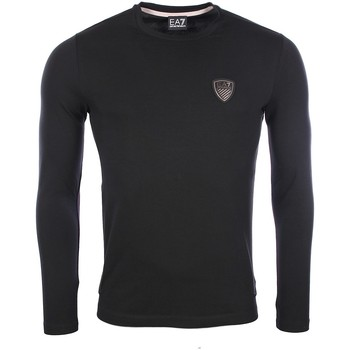 Vêtements Homme T-shirts manches longues Armani Ea7 Long sleeve t-shirt Black 6XPT83 PJ18Z  Man 8056685966133