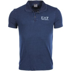 Vêtements Homme Polos manches courtes Armani Ea7 Short sleeves polo Blue 6XPF63 PJ41Z  Man 8053320871845