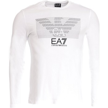 Vêtements Homme T-shirts manches longues Armani Ea7 Long sleeve t-shirt White 3YPTM3 PJ30Z  Man 8058984727668
