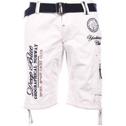 Vêtements Homme Shorts / Bermudas Geographical Norway Bermuda White Pallancre  Man 8438564484929