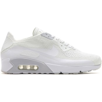 Chaussures Homme Baskets basses Nike Air Max 90 Ultra Flyknit - 875943-101 Blanc