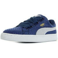 Chaussures Femme Baskets basses Puma Basket Heart Denim bleu