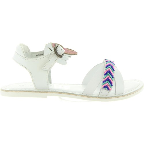 Chaussures Fille Sandales et Nu-pieds Kickers 545361-30 DIXIE Blanco
