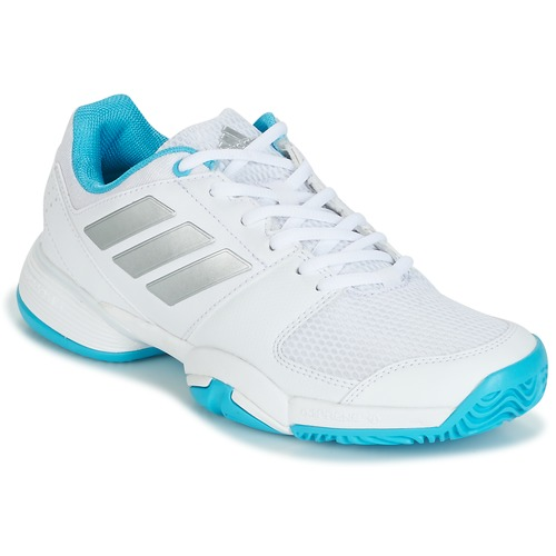 Chaussures Running / trail adidas Performance Barricade Club xJ Blanc/bleu