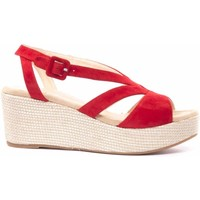 Chaussures Femme Sandales et Nu-pieds Unisa COMPENSEE ROUGE