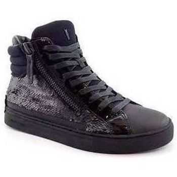 Chaussures Femme Baskets montantes Crime London BASKET MID NOIR