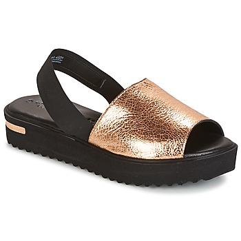 Chaussures Femme Sandales et Nu-pieds Tamaris  Noir / Doré