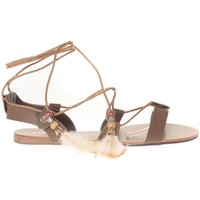 Chaussures Femme Sandales et Nu-pieds Vera & Lucy Sandale  Taupe attache corde SP7085-TP Marron