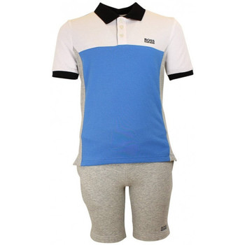 Vêtements Garçon Ensembles enfant Hugo Boss Junior Junior Ensemble short et polo Hugo Boss Junior - Ref. J28050-A89 Gris