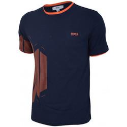 Vêtements Garçon T-shirts manches courtes HUGO Tee-shirt Hugo Boss Junior - Ref. J25A55-849 Bleu