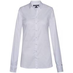 Vêtements Femme Chemises / Chemisiers Tommy Hilfiger Chemise Slim Fit Manches Longues Blanc