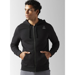 Vêtements Homme Sweats Reebok Sport Veste à capuche molleton Elements Full Zip Noir