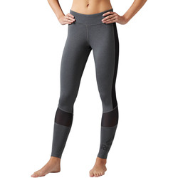Vêtements Femme Leggings Reebok Sport Collant Workout Ready Graphic Gris / Noir