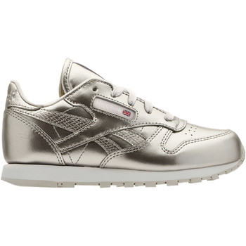 Chaussures Enfant Baskets basses Reebok Classic Classic Leather Metallic Argent / Blanc