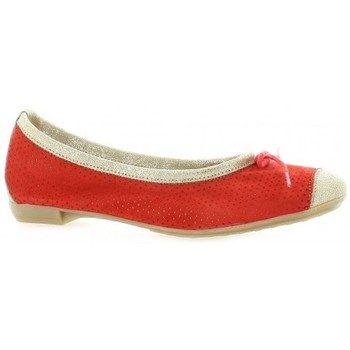 Chaussures Femme Ballerines / babies So Send Ballerines cuir velours  cail Corail