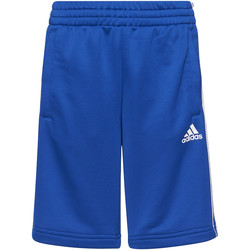 Vêtements Garçon Shorts / Bermudas Adidas Athletics Short Essentials 3-Stripes Bleu / Blanc