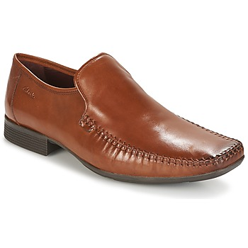 Chaussures Homme Mocassins Clarks Ferro Step Tan Leather