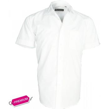 Vêtements Homme Chemises manches courtes Emporio Balzani chemise basic-manche-courte blanc Blanc