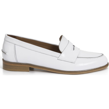 Chaussures Femme Mocassins Heyraud Penny loafer EVEN Blanc