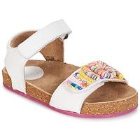 Chaussures Fille Sandales et Nu-pieds Kickers NAISSA BLANC