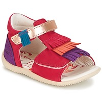 Chaussures Fille Sandales et Nu-pieds Kickers BIHILANA FUCHSIA ORANGE VIOLET