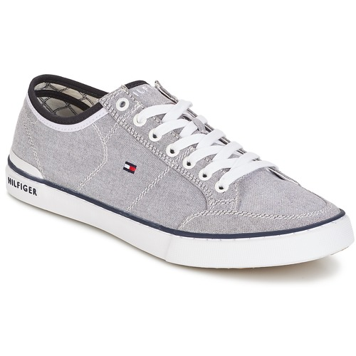 Tommy Hilfiger HARRINGTON Gris - Chaussures Baskets basses Homme