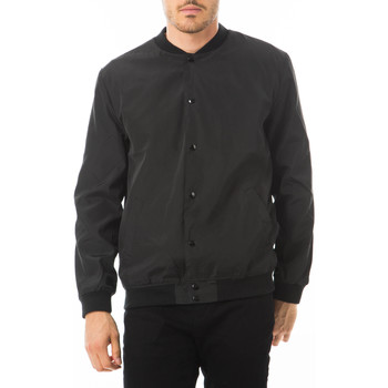 Manteau Selected blouson greaser noir