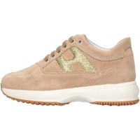 Chaussures Fille Baskets basses Hogan Junior HXC00N00241FTY0K97 Basket Enfant Beige Beige