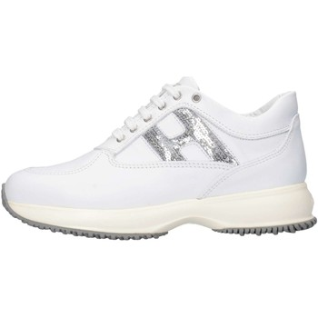 Chaussures Fille Baskets basses Hogan HXC00N00241GHL0351 Basket Enfant Blanc Blanc