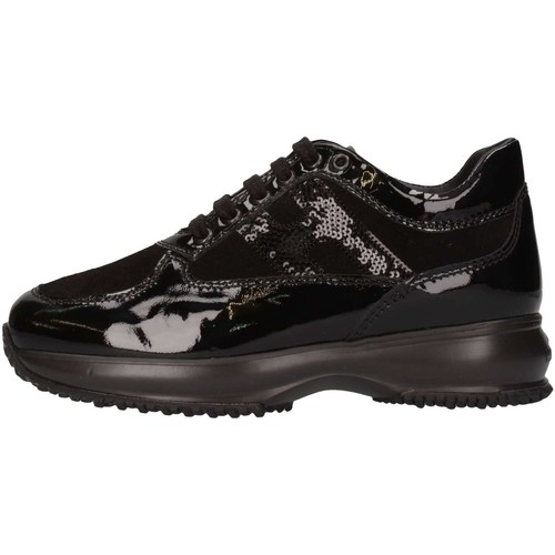 Chaussures Fille Baskets basses Hogan Junior HXC00N041805509999 Basket Enfant Noir Noir