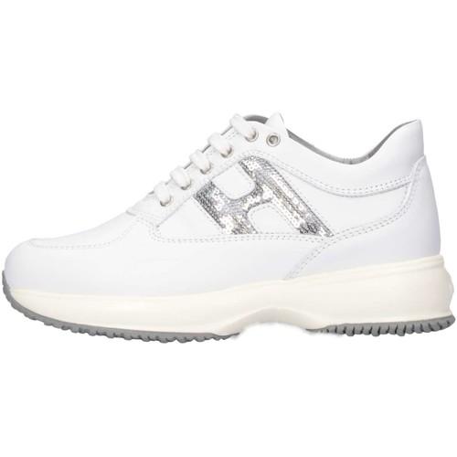 Chaussures Enfant Baskets basses Hogan HXC00N0O2418GQ351 Basket Bébé Blanc Blanc